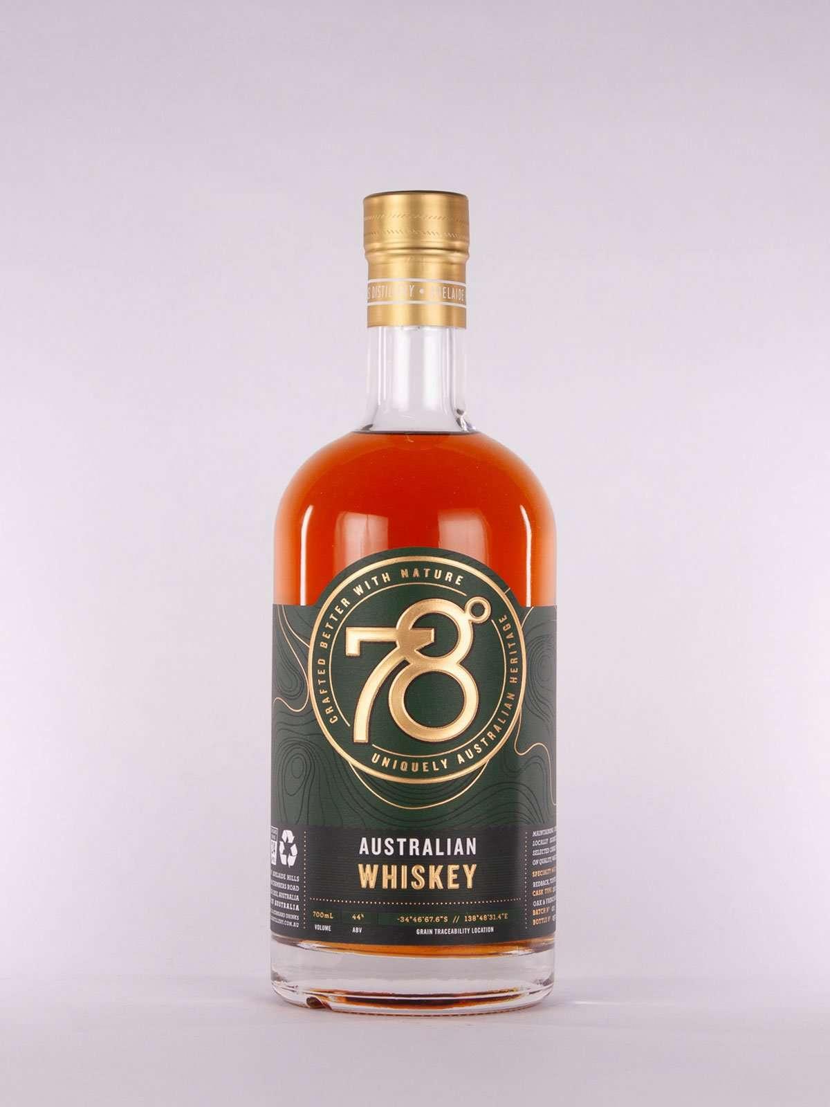 78 Degrees Australian Whiskey